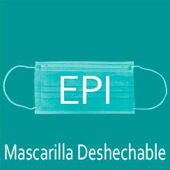 mascarilla deshechable epi
